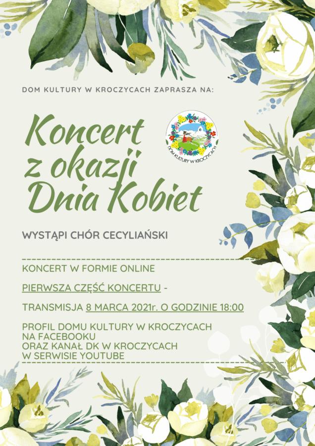 Plakat promujący koncert na Dzień Kobiet